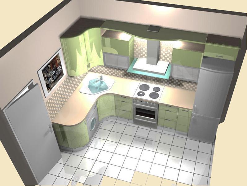 Дизайн кухонь 6 кв метров